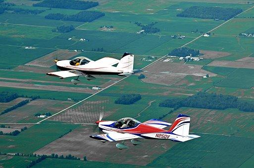 Rv-12, Flying, Oshkosh, Air-to-air, Aircraft, Aviation