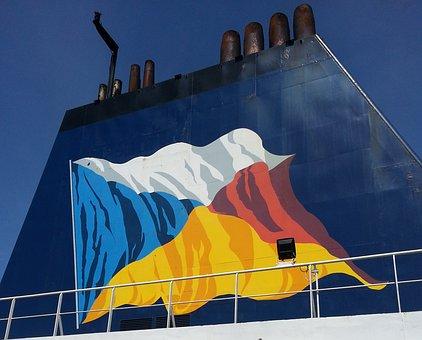 Funnel, Steamer, Channel, Sea, Ship, Boat, Vessel