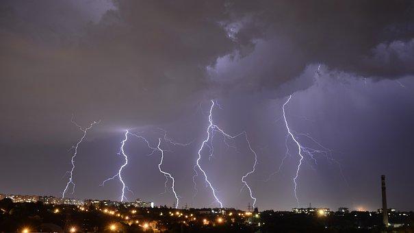 Lightning, Zipper, Thunderstorm, Night, Storm, Flash