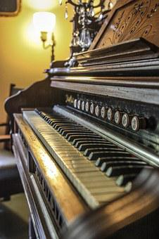 Piano, Organ, Antique, Music, Instrument, Musical
