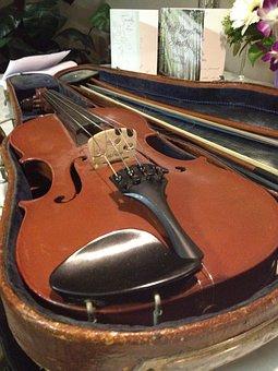 Violin, Violin Case, Fiddle, Vintage, Antique, Bow