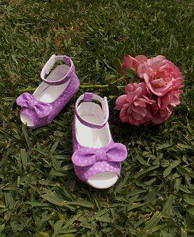 Shoes, Baby Shoes, Baby Girl, Purple Shoes, Bow Shoes