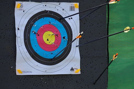 Target, Holes, Bow, To Shoot
