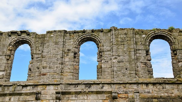 Scotland, St Andrews, Cathedral, Wall, Bow Window, Old
