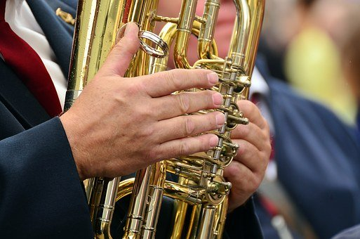 Hands, Musical Instrument, Tuba, Brass Band