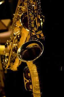 Saxophone, Brass, Golden, Live, Music, Entertainment