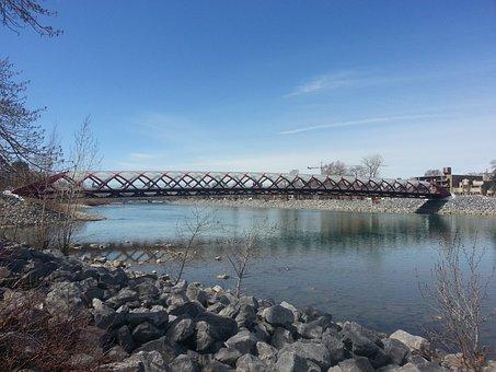 Calgary, Peace Bridge, Bridge, Landmark, Canada