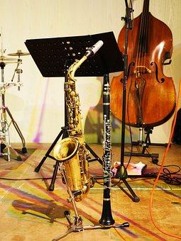 Stage, Jazz, Instruments, Presentation, Concert