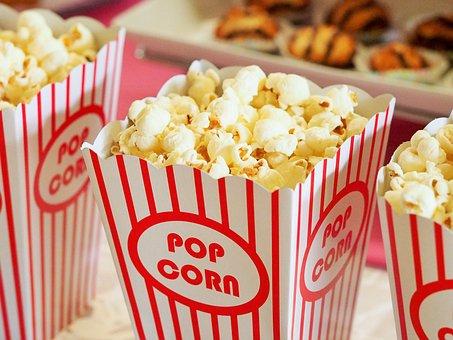 Popcorn, Movies, Cinema, Entertainment, Food, Corn