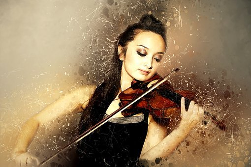Solo Violinist, Playing, Artist, Stringed, Female