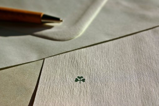 Letters, Leave, Envelope, Luck, Four Leaf Clover