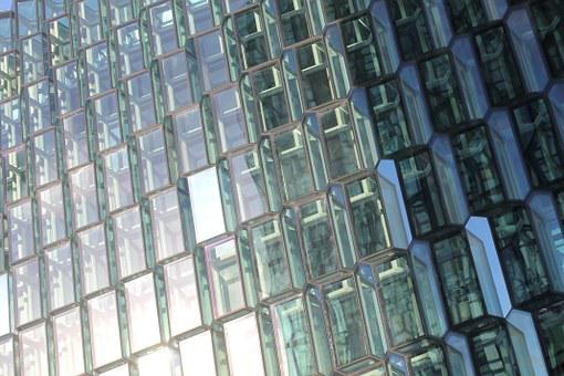 Glass, Facade, Mirroring, Honeycomb, Structure