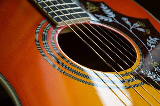 Guitar, Music, Band Bands, Close Up, Acoustic Guitar
