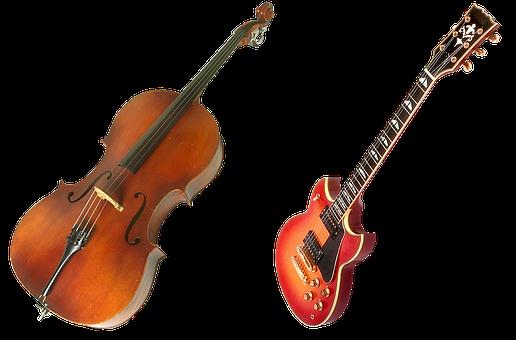Violin, Guitar, Bow, Stringed Instruments, Music