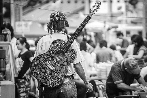 Guitar, Musician, Guitarist, Instrument, Performer