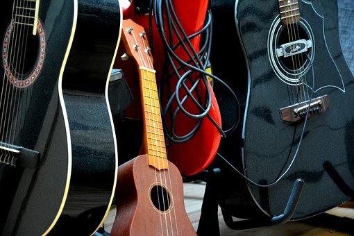 Guitars, Ukulelle, Instruments, Studio, Audio