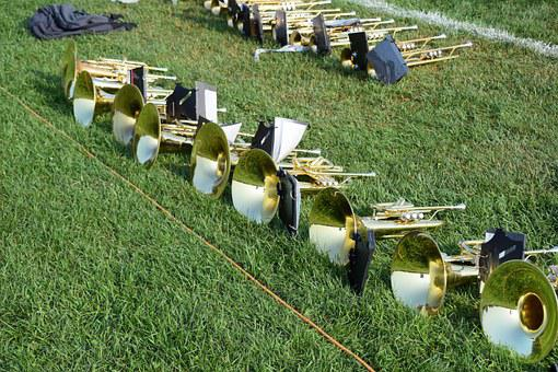 Horn, Brass, Music, Instruments, Band, Trumpet, Sound