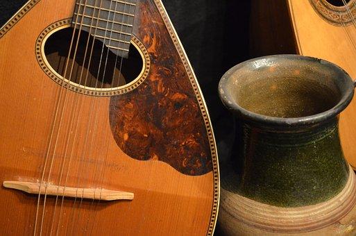 Instruments, Pottery, Music, Still Life, Ceramic
