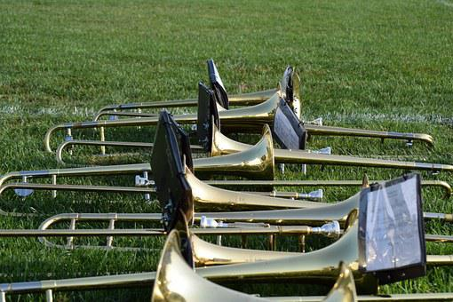 Trombone, Music, Instruments, Band, Brass, Trumpet