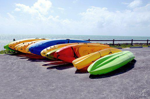 Kayaks, For Rent, Colorful, Recreation, Summer