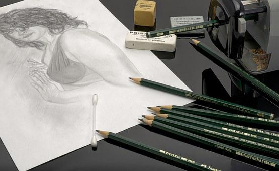 Pencil, Pens, Lead, Leave, Draw, Stationery, Desk