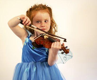 Violin, Child, Girl, Fairy, Music, Instrument, Lesson