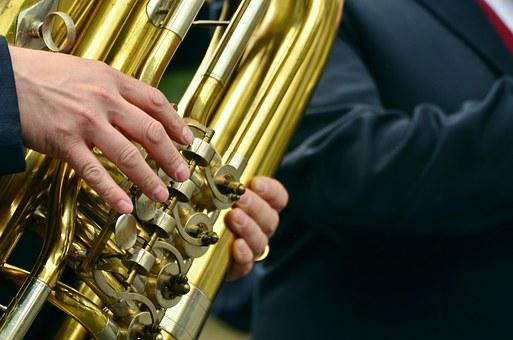 Hands, Musical Instrument, Tuba, Brass Band, Marching