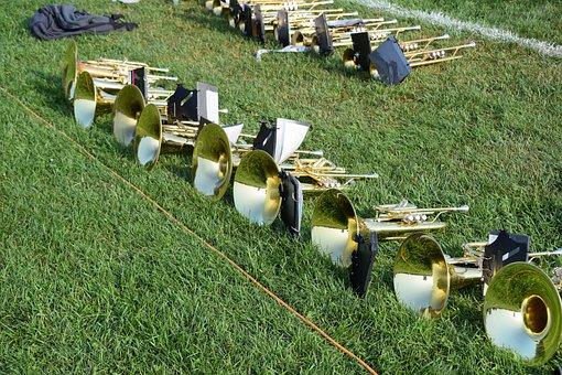 Horn, Brass, Music, Instruments, Band, Trumpet, Sound