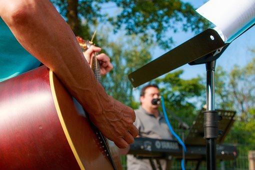 Music, Playing, Band, Outside, Guitar, Musical