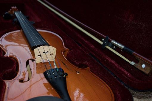 Violin, Velvet, Bow, Musical, Instrument, String, Case