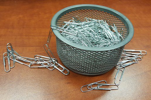 Paper Clips, Office Supplies, Office, Chain, Stationery