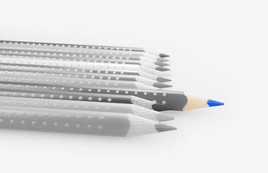 Pencils, Colored Pencils, Colour Pencils, Blue, Pens