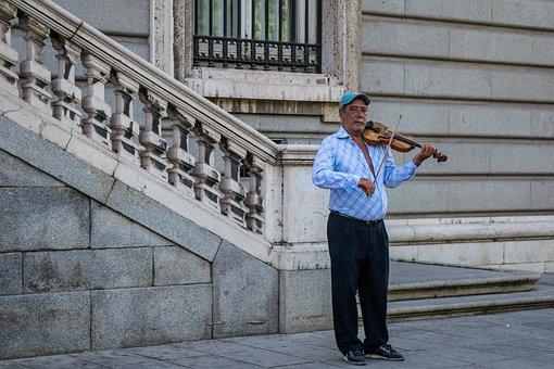 Musician, Violin, Instruments, Rope, Person, Portrait