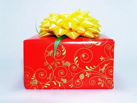 Gift, Box, Red, Present, White, Bow, Birthday, Ribbon