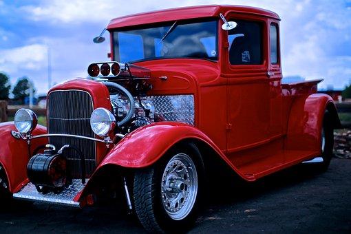 Fun Car, Pickup Truck, Refurbished Vintage Car