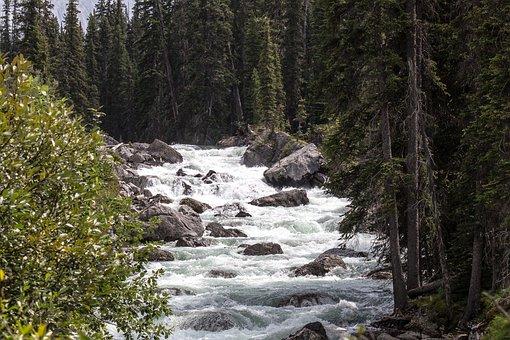 Maligne River, Jasper, Alberta, Canada, Wild, River