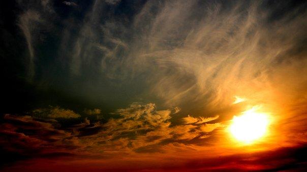 Sunset, Sky, Clouds, Sun, Atmosphere, Cirrus