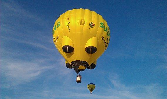 Hot Air Balloon, Balloon, Colorful, Start, Start Phase