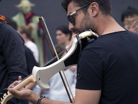 Violin, Violinist, Musician, Street Performance, Music
