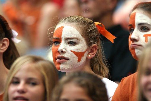 American Football, Fan, Supporter, Girl, Female