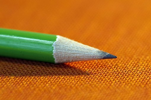 Pencil, To Write, Sharpened, Green, Stationery, Office