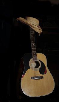 Guitar, Hat, Westernhat, Tonkunst, Guitar Player