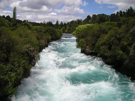 Torrent, White Water, Force, Nature, New Zealand