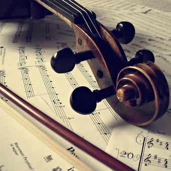 Musical Instrument, Violin, Curl, Tuning Pegs, Strings