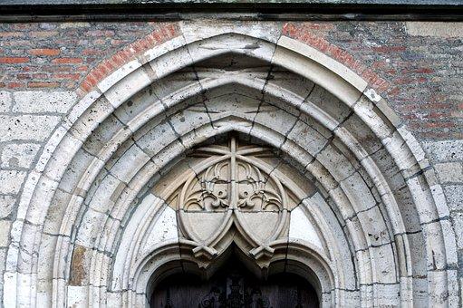 Architecture, Gothic, Bow Window, Portal, Window, Ulm