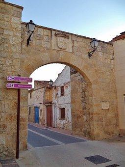 Valdepero Fuentes, Palencia, Medieval Bow, Door