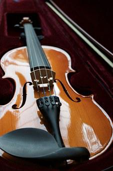 Violin, Velvet, Case, String, Bow, Wooden