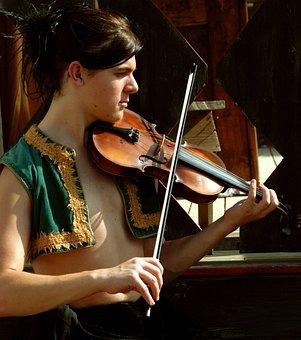 Music, Gypsy, Musician, Violin, Portrait, Vest