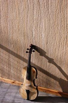 Violin, Wall, Shadow, Instrument, Music