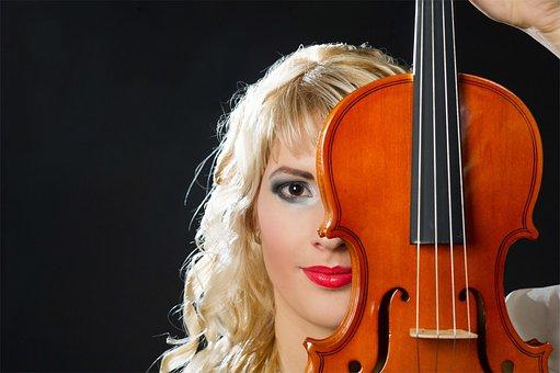 Violin, Woman, Violin Woman, Musician, Instrument